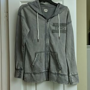Toms Distressed Gray Sweatshirt